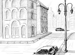city sketch vector background royalty free cliparts vectors and