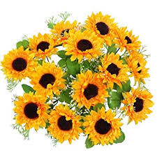 silk sunflowers amyhomie artificial flowers silk sunflowers 2