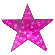 Christmas Decoration Star Lights by Holographic Led Star Light Up Christmas Decoration 50cm 3d Pvc