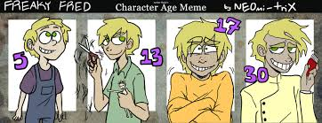 Fred Meme - character age meme freaky fred by neomi trix on deviantart