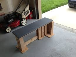 strong homemade bench for home gym dyi homegym pinterest