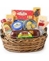 Cheese And Cracker Gift Baskets Amazing Deal Congratulations Sausage U0026 Cheese Gift Basket
