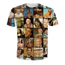 Internet Meme Shirts - summer fashion men causal t shirt nicolas cage rage faces print