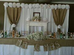 wedding backdrop burlap wedding dessert table this is the closest i found to what i