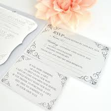 engraved acrylic regal fancy wedding invitation engraved wedding