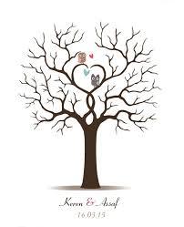 wedding tree guest book 2018 fingerprint wedding tree thumbprint wedding guest book tree