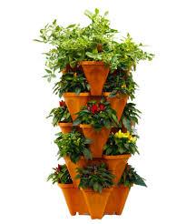 amazon com large vertical gardening stackable planters grow