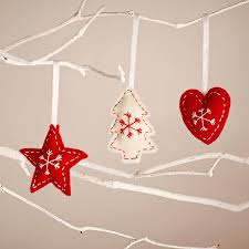 star heart and tree nordic style christmas decorations by paper