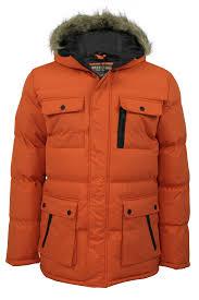 mens winter parka jackets coats by brave soul everest hooded ebay