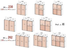 grandezza cabina armadio gallery of le misure degli armadi dielle misure armadio