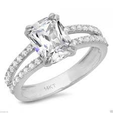Vintage Style Cushion Cut Engagement Rings 3 25 Ct Engagement Ring With Cushion Cut Stone Solid 14k White