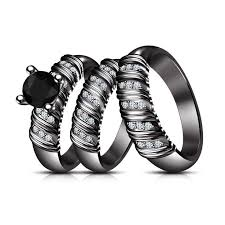 Black Gold Wedding Rings by 71 Best Wedding Rings Images On Pinterest Jewelry Bridal Rings