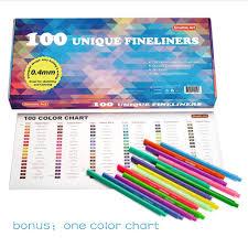 amazon com shuttle art fineliner pens 100 colors 0 4mm fineliner