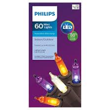 philips led 60 ct mini string lights purple warm