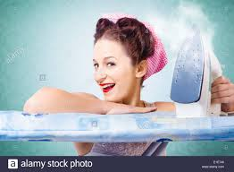 Bathtub Pinup Funny Pin Up Cleaning Woman Having Fun During Spring Clean Wearing