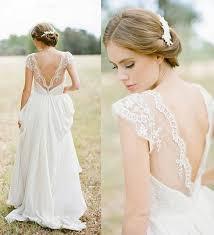 lace chiffon beach wedding dress 2017 backless high neck
