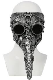 steunk masquerade mask plague doctor mask silver resin mechanical gear mask the best