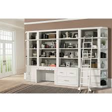White Cottage Bookcase by Catalina 8 Piece Home Office Bookcase Library Wall In Cottage