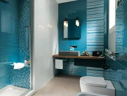 Cool Bathroom Ideas Colors Beautiful Aqua Blue Color In Different Forms Tiles Stripes And