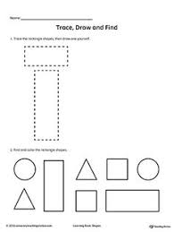trace and drawing shapes to number drawings the shape and shape