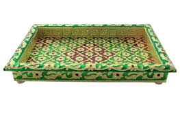 meenakari art piece artwork trays handcrafted products home