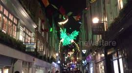 london christmas lights walking tour newsflare carnaby street s carnival themed christmas lights