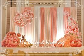 wedding backdrop themes color theme coral wedding stage color themes