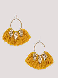 earrings online india buy statement tassel earrings for women women s yellow earrings