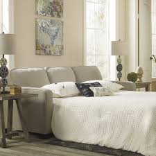 furniture comfortable grey sleeper sofa matched with bright white