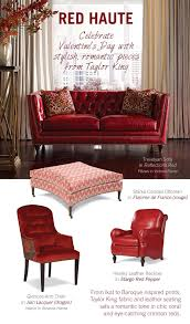taylor king furniture a valentine u0027s day love affair with red