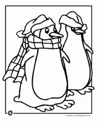 christmas penguin coloring pages animal jr