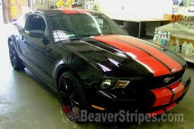 Black Mustang With Stripes Red Mustang With Black Stripes Mustang Stripes Red On Black