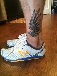 hermes wings leg but on ankle tattoos