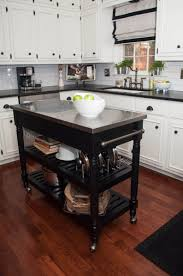 modern kitchen islands on wheels varnished striped wood drawer