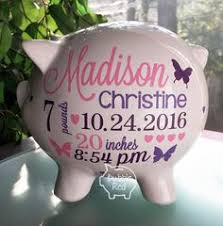 personalized baby piggy banks personalized piggy bank baby girl piggy bank baby girl