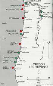 map of oregon lighthouses lighthouses of oregon coast map oregon coast mappery