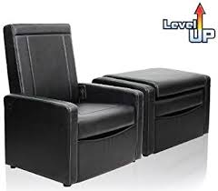 Convertible Ottoman Convertible 3 In 1 Ottoman Chair Black Leather Finish