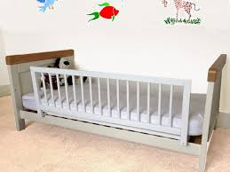 Twin Bed Frame For Toddler Toddler To Twin Bed Pilaster Designs Walnut Finish Wood Twin Over