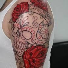 skull flower design sleeve gardening flower and vegetables