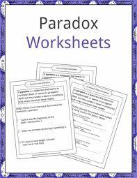 paradox examples definition and worksheets kidskonnect