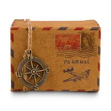 Wedding Photo Box Vintage Inspired Airmail Favor Box Kit The Knot Shop