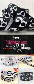 nightmare before christmas ribbon wired ribbon 4 orange black stripe ten yard roll