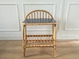 meubles en rotin cuisine petite table en rotin ou chevet rã tro chic vintage d u0026