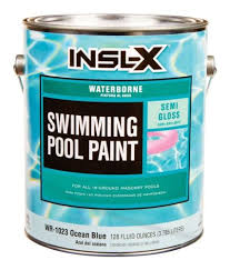 insl x swimming pool paint indoor outdoor semi gloss ocean blue 1