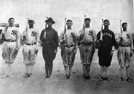 Chicago White Sox Map by 1917 White Sox Army Drill
