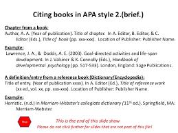 apa format citation book exle of book citation in apa format juzdeco com