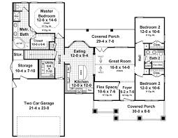 craftsman floorplans house plan 55603 at familyhomeplans com
