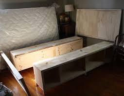 Full Size Bed Frame Plans Bedroom Delightful Diy Platform Bed Frame With Storage Bed