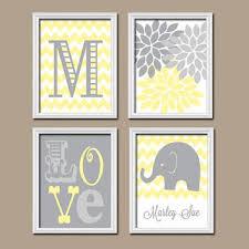 Yellow And Grey Nursery Decor Shop Yellow And Gray Chevron Decor On Wanelo