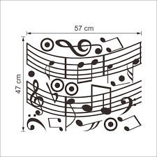 music note home decor musical notes wall sticker dance in the wind music notation wall